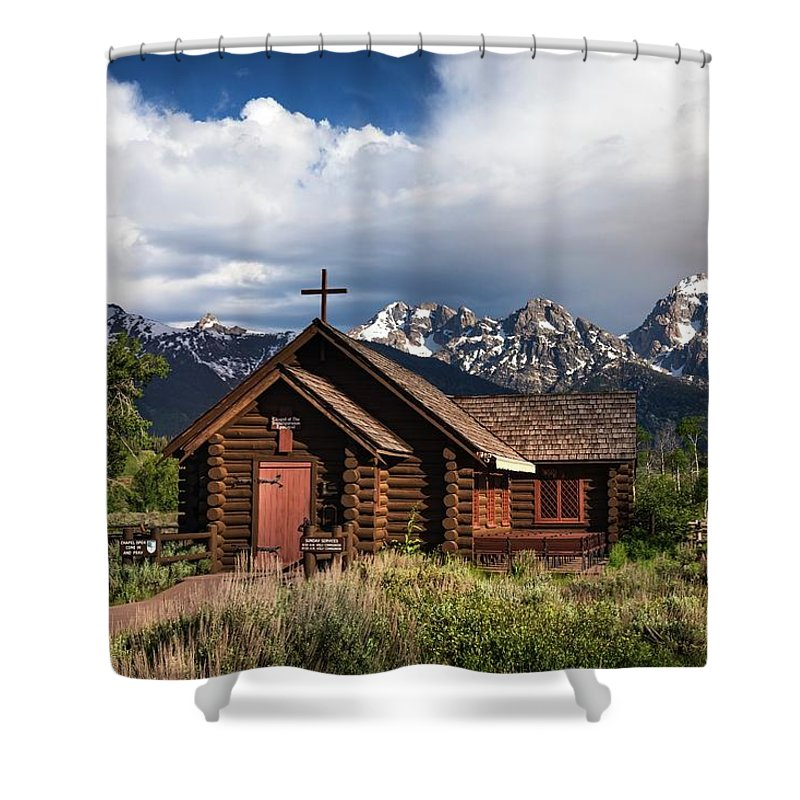 Church Shower Curtain featuring the photograph Chapel Of The Transfiguation by Harriet Feagin