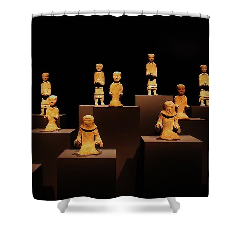 Met Shower Curtain featuring the photograph Chariot Warriors by Christopher James
