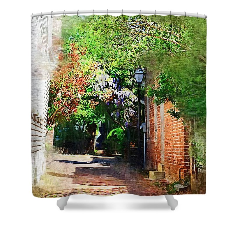 Alley Shower Curtain featuring the photograph Charlestons Alley by Donna Bentley