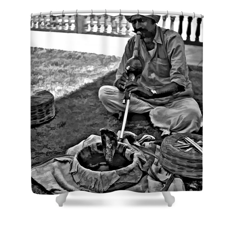 Rajasthan Shower Curtain featuring the photograph Charming Monochrome by Steve Harrington