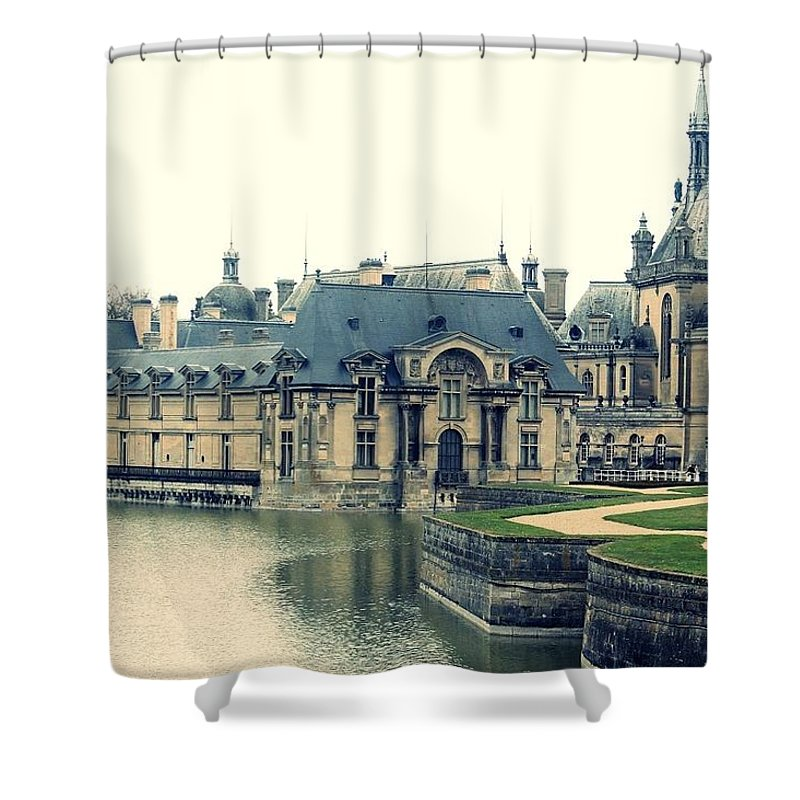 Castle Shower Curtain featuring the photograph Chateau Chantilly by Danielle Andrews