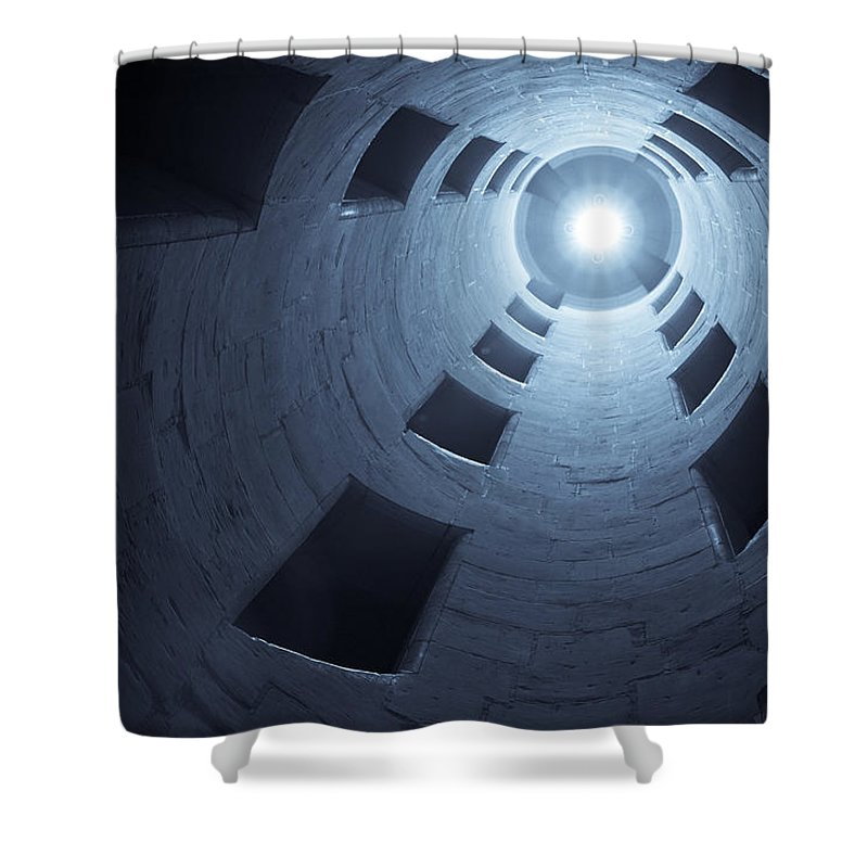 Staircase Shower Curtain featuring the photograph Chateau De Chambord Double Staircase by Sebastian Musial