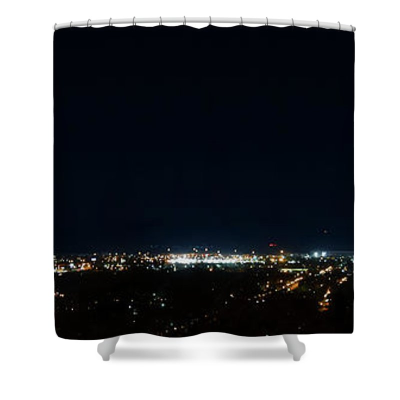 Pat Shower Curtain featuring the photograph Chattanooga By Night by Pat Turner