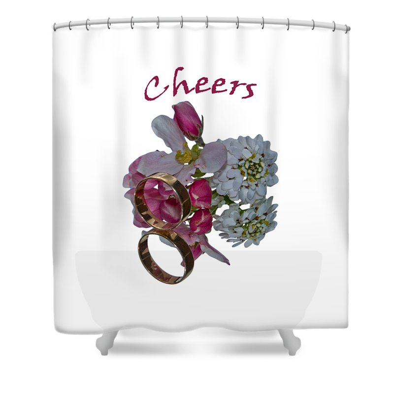 Congratulation Cards Shower Curtain featuring the photograph Cheers A Greeting Card by Dave Byrne