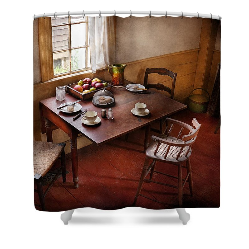 Hdr Shower Curtain featuring the photograph Chef - Kitchen - Kids Breakfast Is Ready by Mike Savad