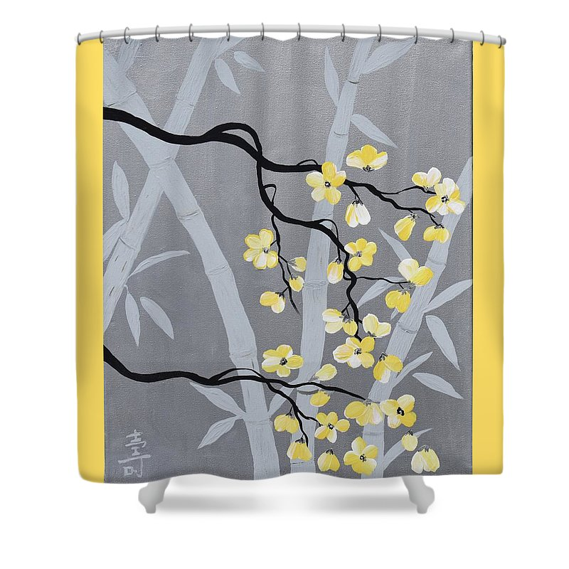 Cherry Blossom Blossoms Art Flower Bamboo Yellow Flowers