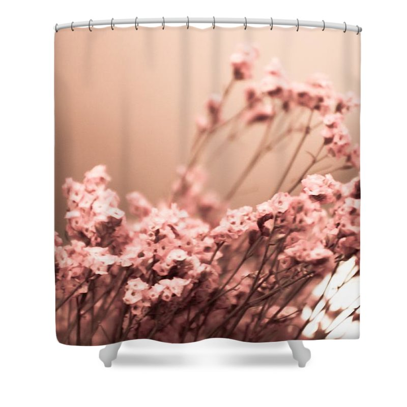 Cherry Blossoms Shower Curtain featuring the photograph Cherry Blossoms by Kendall Tabor