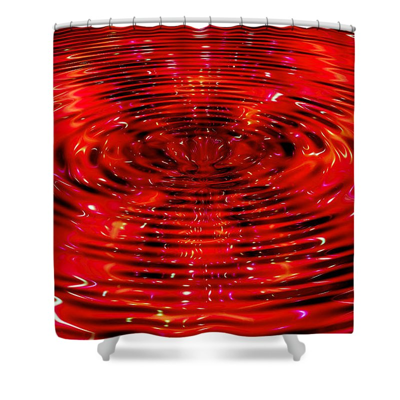 Ripple Shower Curtain featuring the digital art Cherry Coke by Robert Orinski