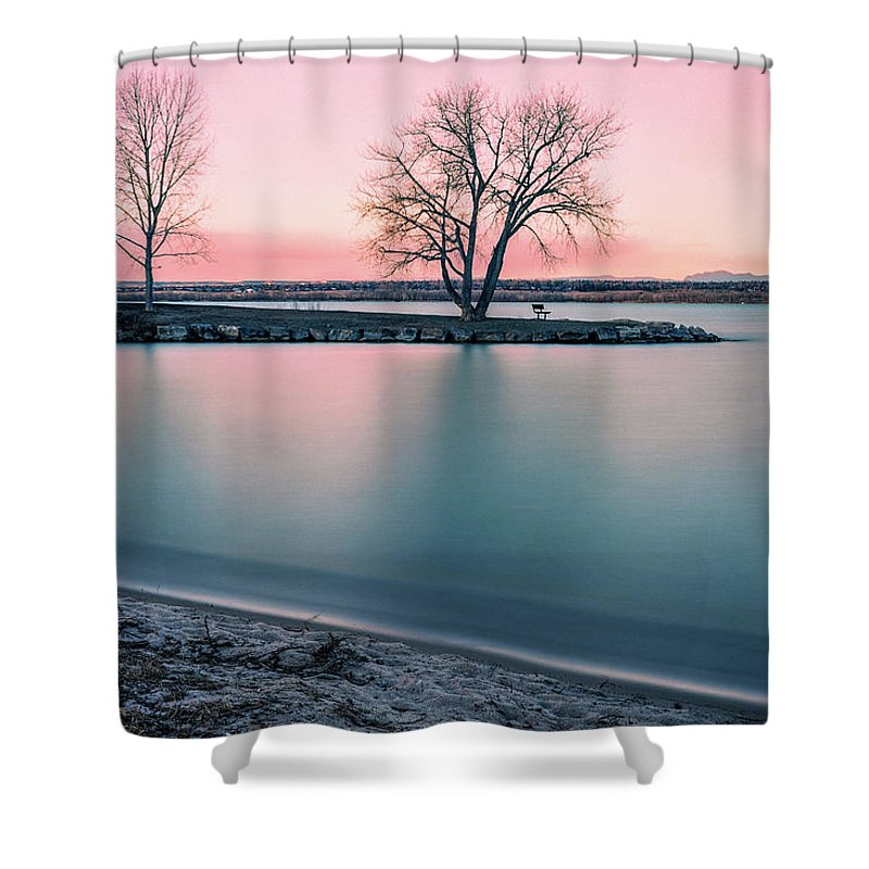 Sunrise Shower Curtain featuring the photograph Cherry Creek Sunrise by Chris Augliera