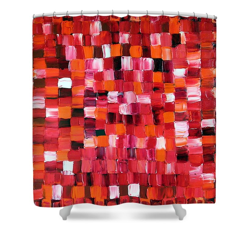 Art Shower Curtain featuring the painting Cherry Pie by Dawn Hough Sebaugh