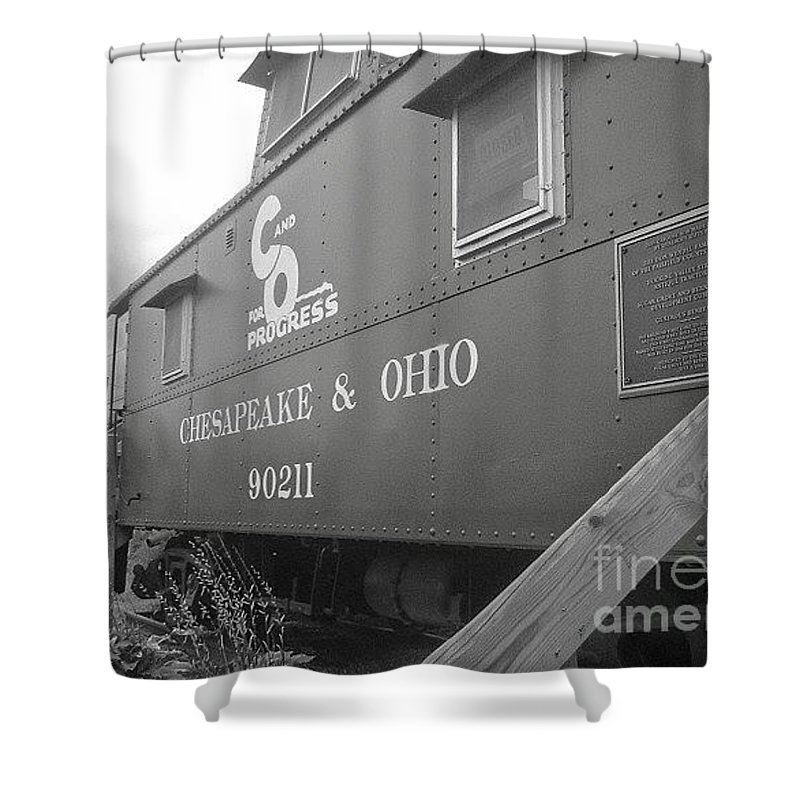 Caboose Shower Curtain featuring the photograph Chesapeake And Ohio by Dawn Downour