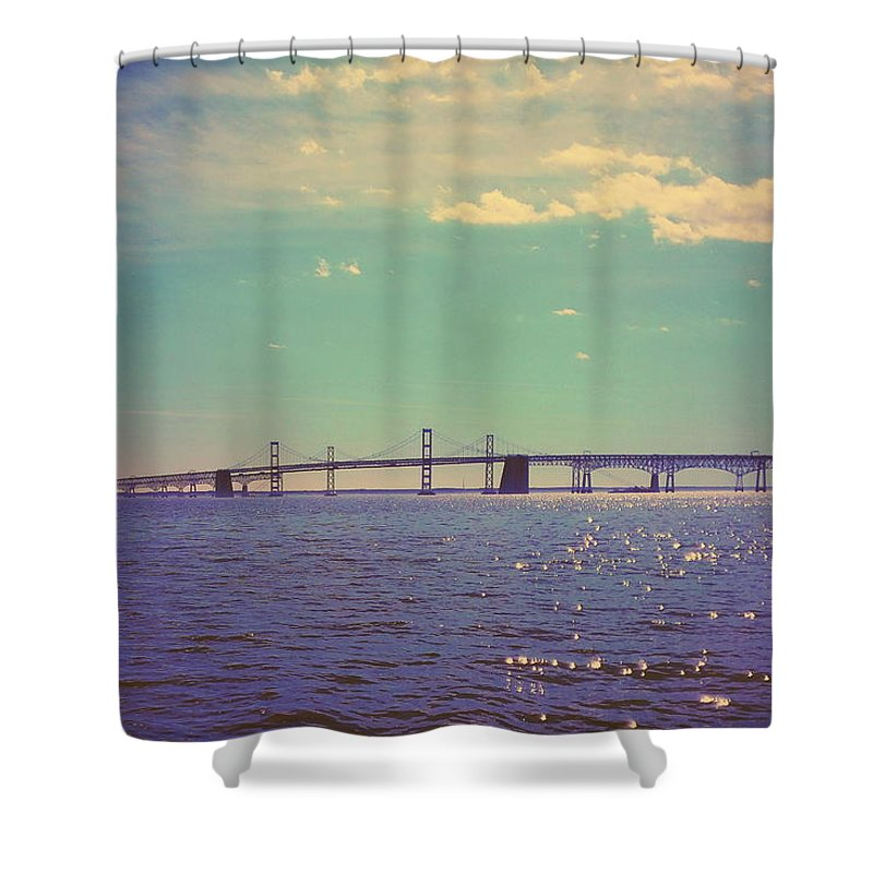 Chesapeake Bay Shower Curtain featuring the photograph Chesapeake Bay Bridge by Paul Kercher
