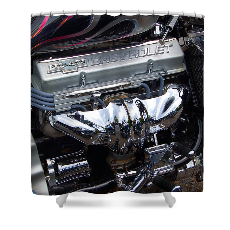 Diane Berry Shower Curtain featuring the photograph Chevrolet 400 Hp by Diane E Berry