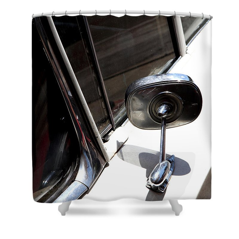 Biscayne Shower Curtain featuring the photograph Chevy Looking Back by Amanda Barcon