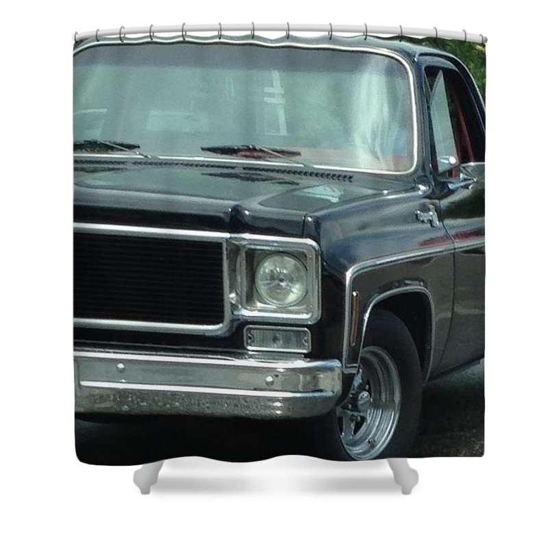 Chevy Truck Shower Curtain Featuring The Photograph Vintage By Michael Martone