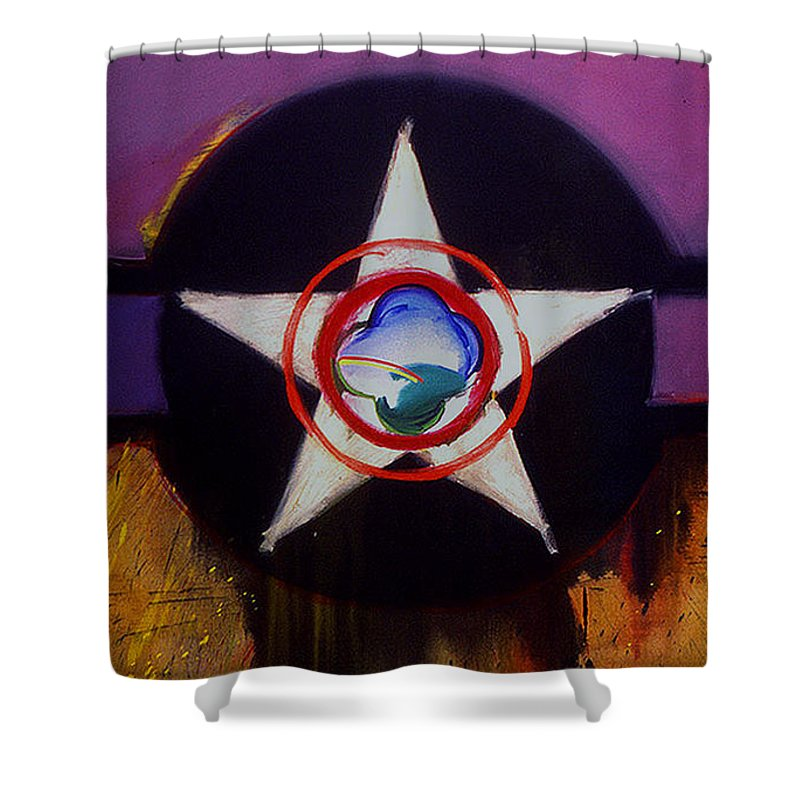 Air Force Insignia Shower Curtain featuring the painting Cheyenne Autumn by Charles Stuart