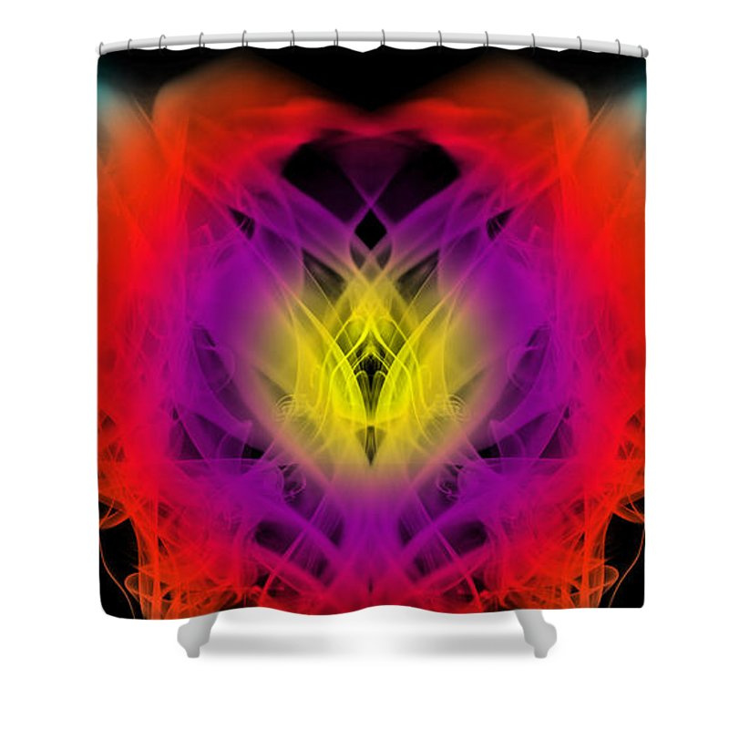 Clay Shower Curtain featuring the digital art Chi by Clayton Bruster