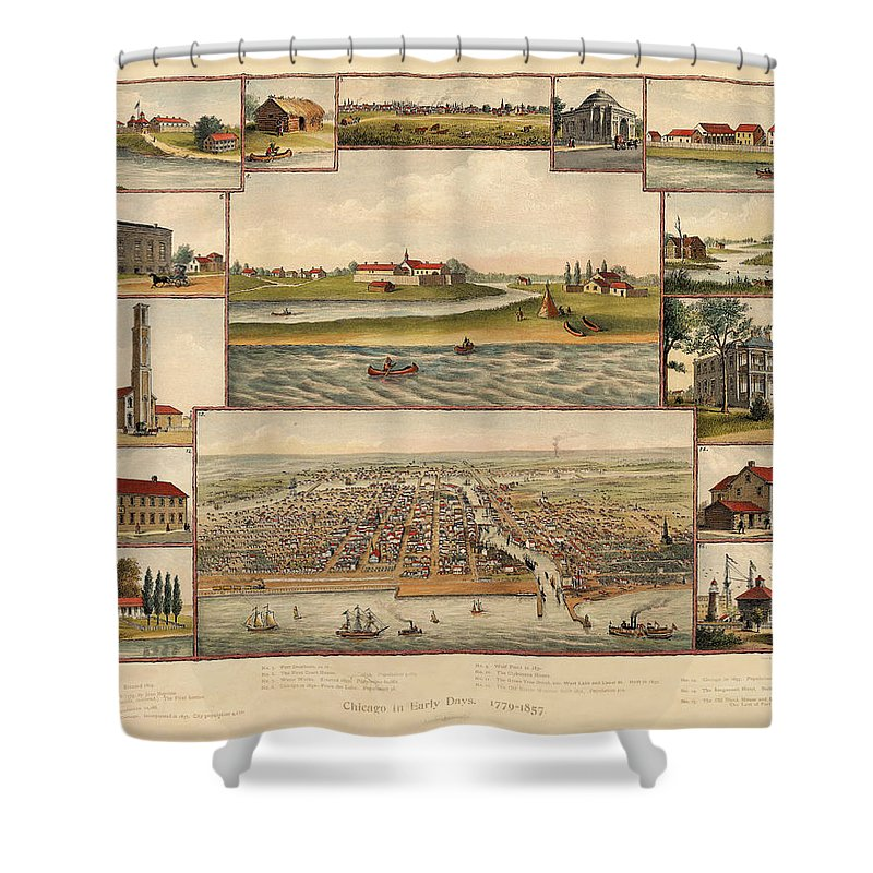 Chicago Shower Curtain featuring the photograph Chicago 1779-1857 by Andrew Fare