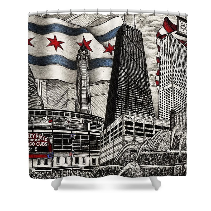 Chicago Cubs Ernie Banks Wrigley Field Shower Curtain For Sale By