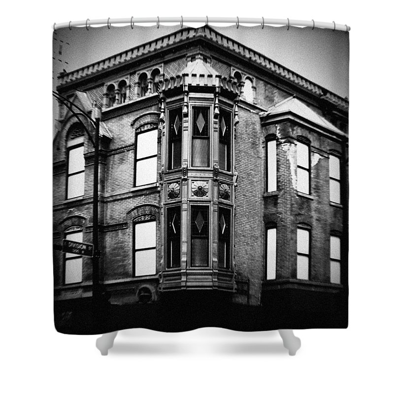 Chicago Shower Curtain featuring the photograph Chicago Historic Corner by Kyle Hanson