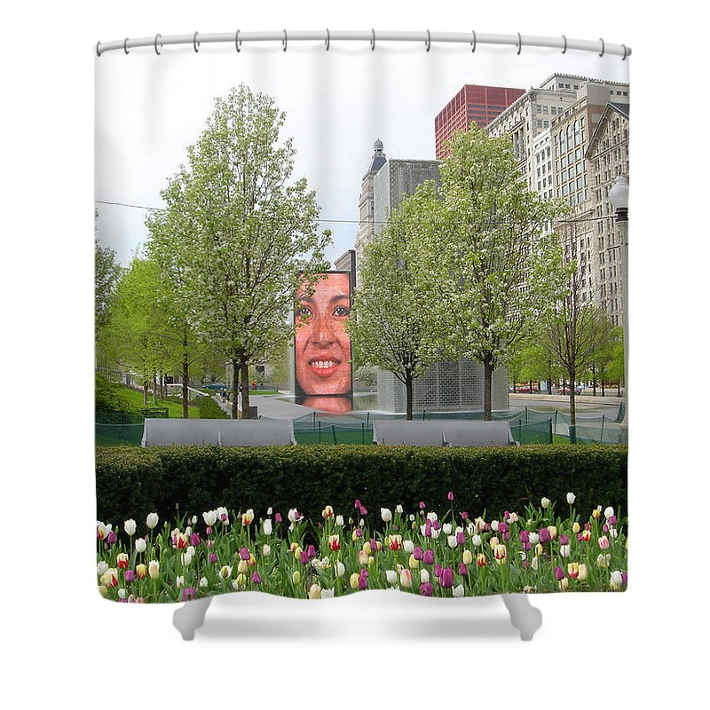 Chicago Shower Curtain featuring the photograph Chicago by Jean Macaluso