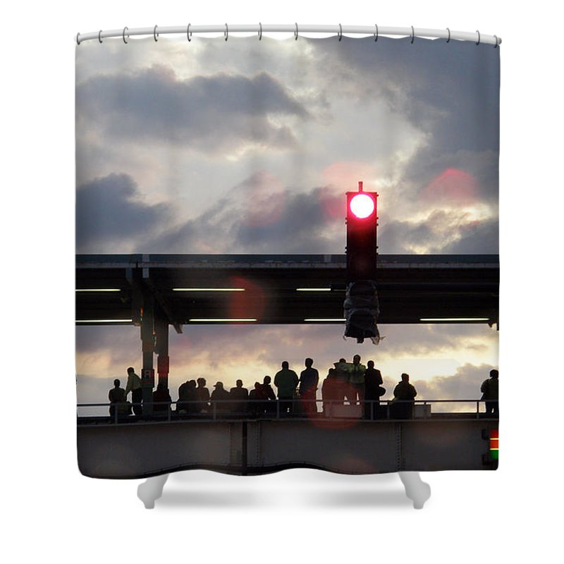 L Train Shower Curtain featuring the photograph Chicago L Train by Albert Stewart