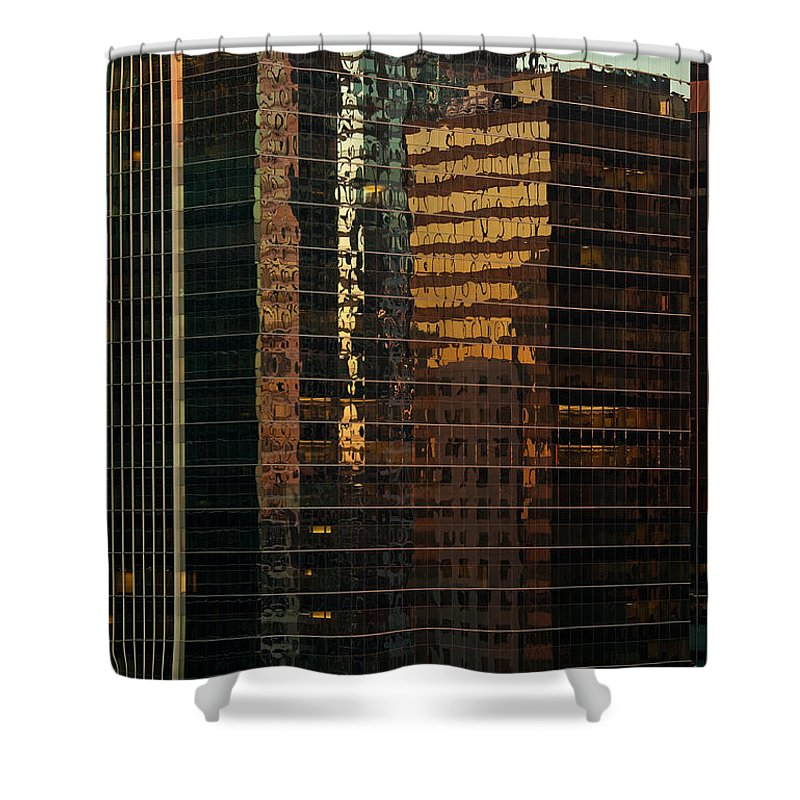Chicago Shower Curtain featuring the photograph Chicago Reflected by Steve Gadomski