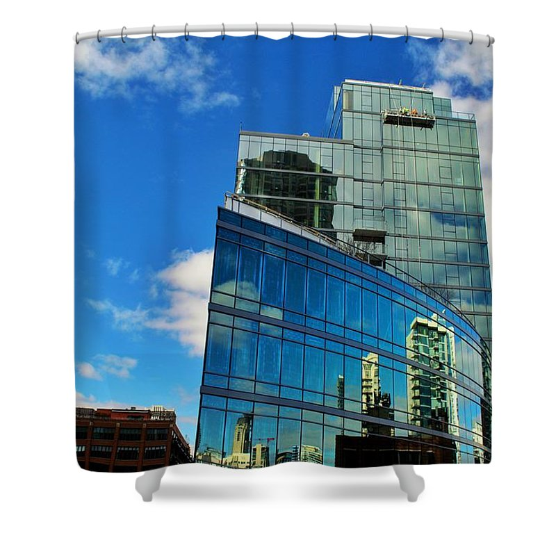 Chicago Shower Curtain featuring the photograph Chicago Reflection by Joseph Caban