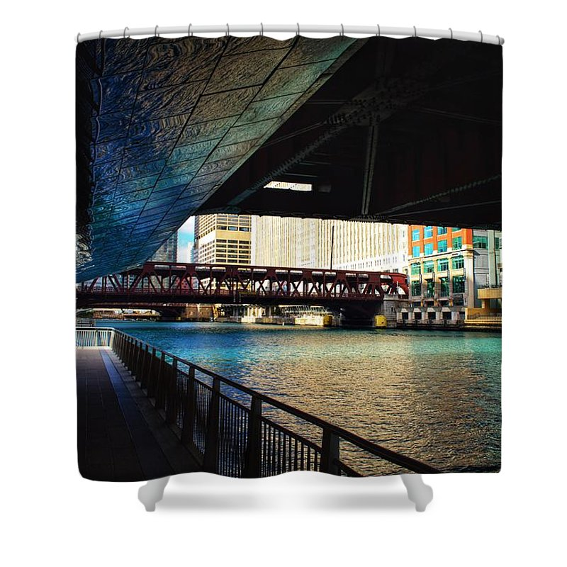 Chicago Shower Curtain featuring the photograph Chicago Water by Joseph Caban