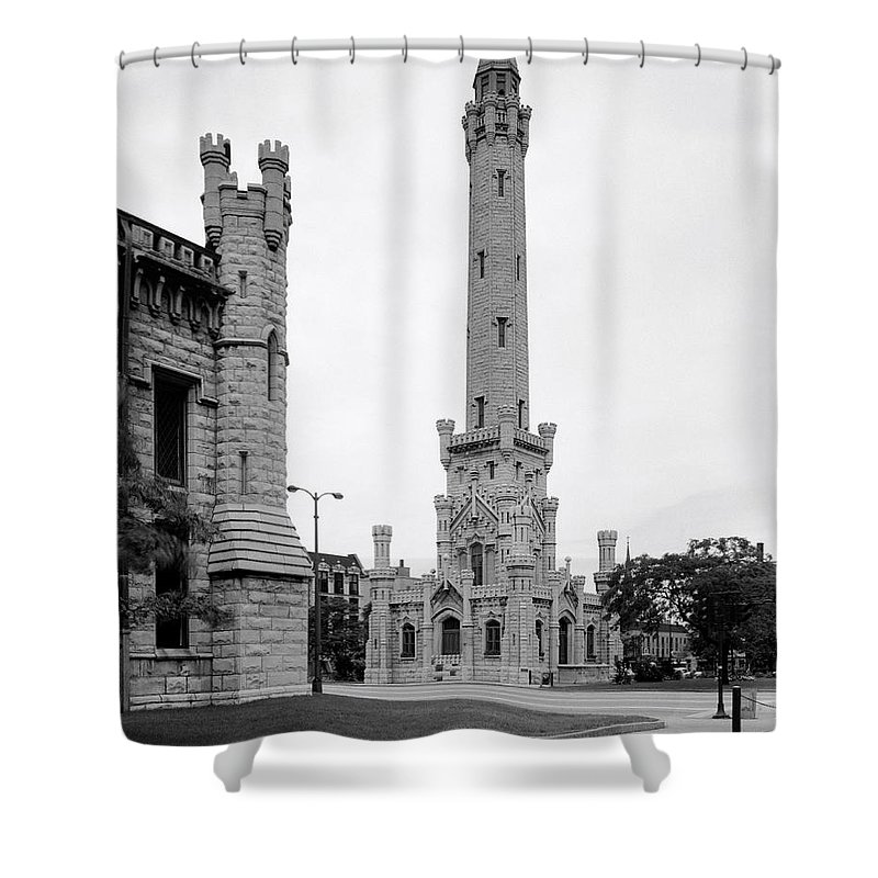 Chicago Shower Curtain featuring the photograph Chicago Water Tower 1933 by Daniel Hagerman