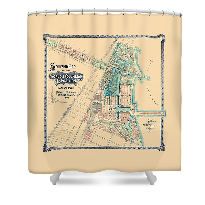 Chicago World S Fair Columbian Exposition Map 1893 Shower