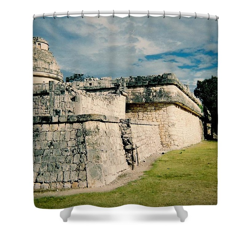 Chitchen Itza Shower Curtain featuring the photograph Chichen Itza 1 by Anita Burgermeister