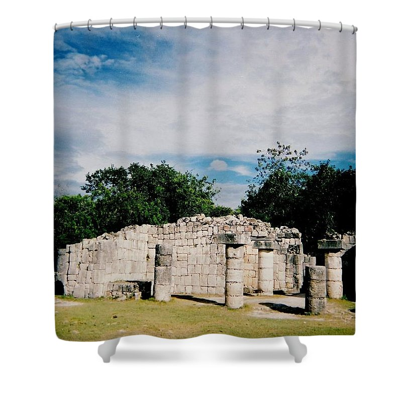 Chitchen Itza Shower Curtain featuring the photograph Chichen Itza 2 by Anita Burgermeister
