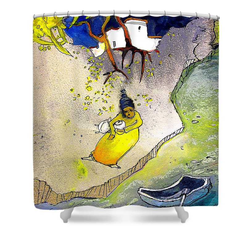 Child Shower Curtain featuring the painting Child Abandon by Miki De Goodaboom