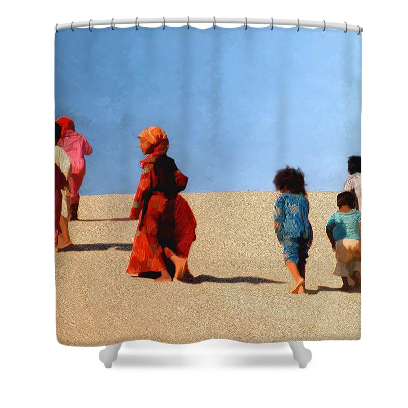 Children Shower Curtain featuring the photograph Children Of The Sinai by Kurt Van Wagner