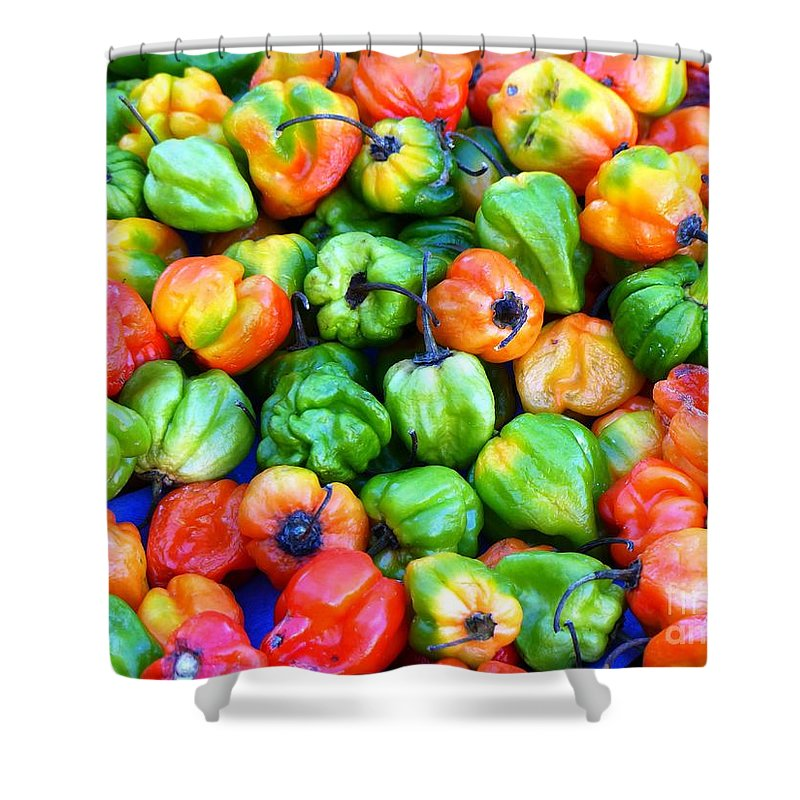 Spices Shower Curtain featuring the photograph Chili Pepper Fest by Carlos Amaro
