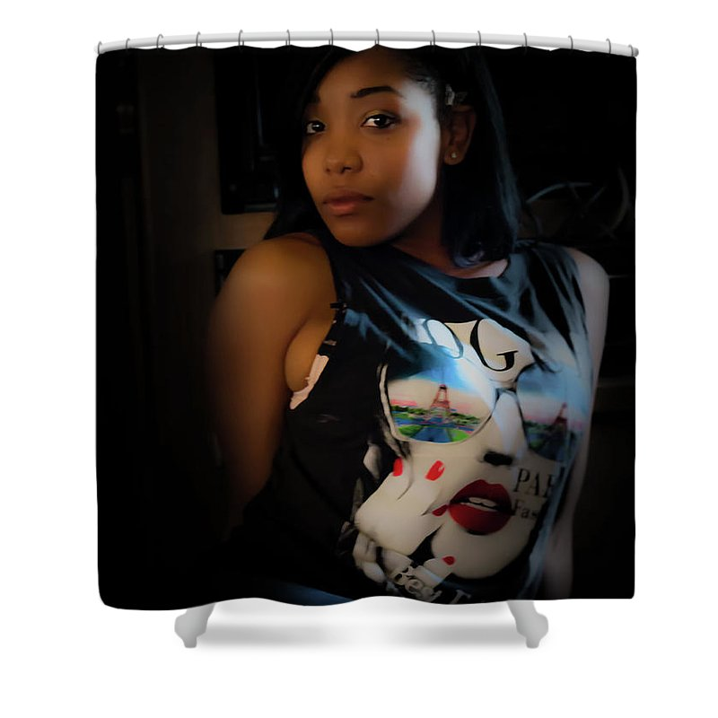 People Shower Curtain featuring the photograph Chilling by JB Thomas
