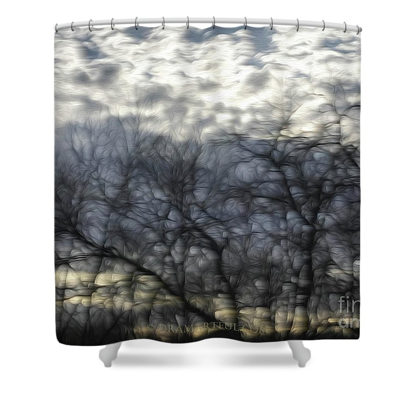 Outdoors Shower Curtain featuring the photograph Chilly Morning by Maria Costello