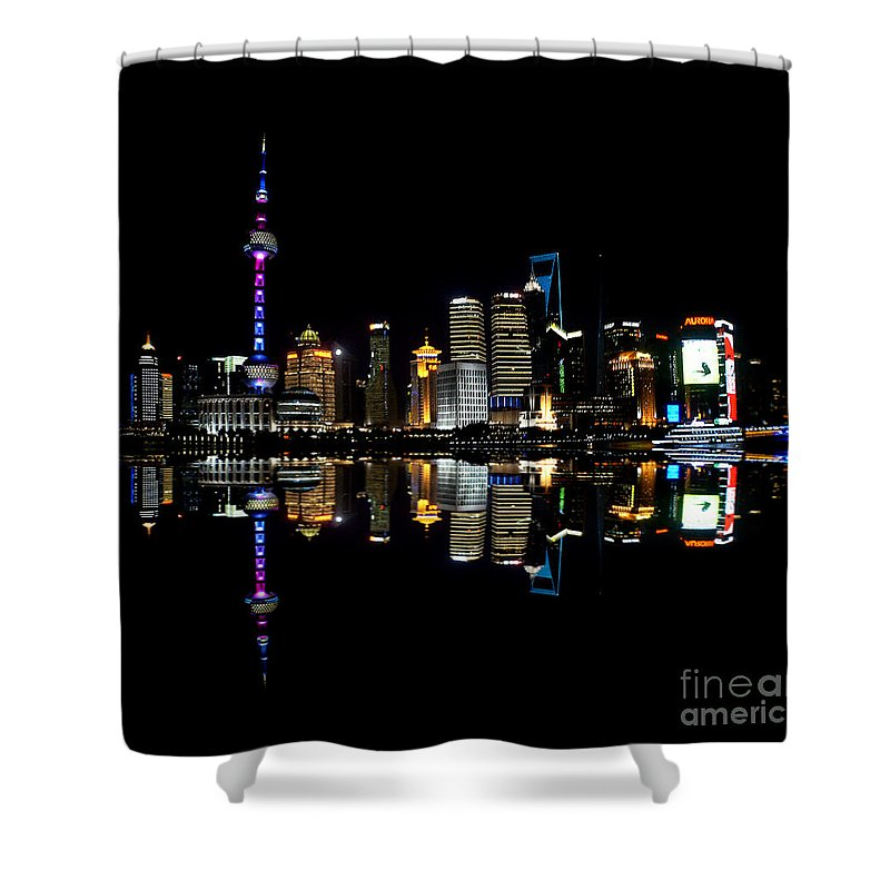 China Shower Curtain featuring the photograph China 30 by Ben Yassa