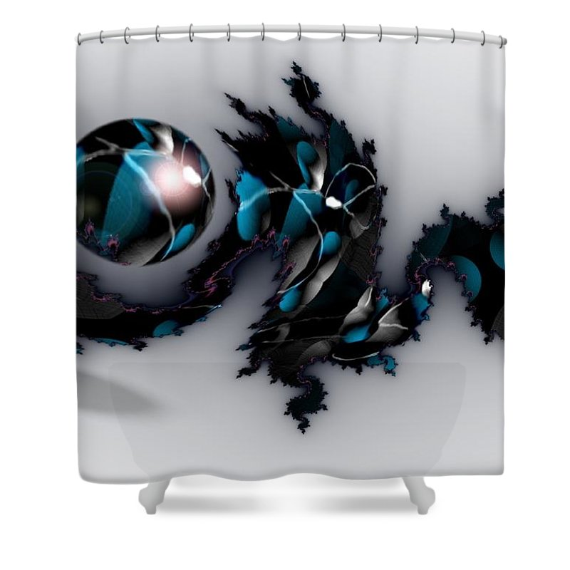 China Dragon Rythm Float Dance Shower Curtain featuring the digital art China Dragon by Veronica Jackson