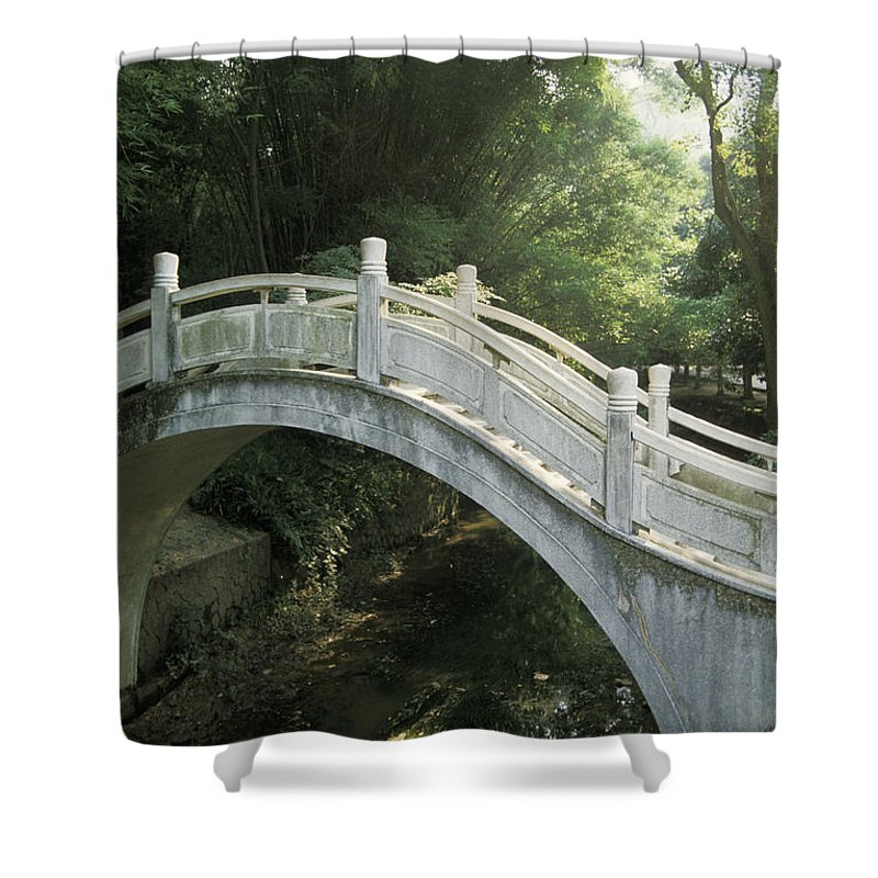 Arch Shower Curtain featuring the photograph China, Guilin by Larry Dale Gordon - Printscapes