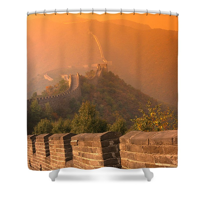 73-csb0010 Shower Curtain featuring the photograph China, The Great Wall by Gloria & Richard Maschmeyer - Printscapes