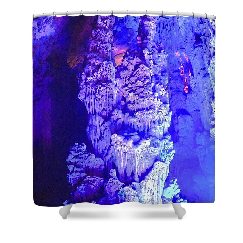 Waterscape Shower Curtain featuring the photograph Chine's Luxury by Katya Milano
