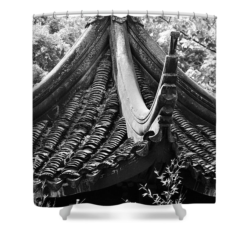 Chinese Shower Curtain featuring the photograph Chinese Architecture by Melinda Baugh