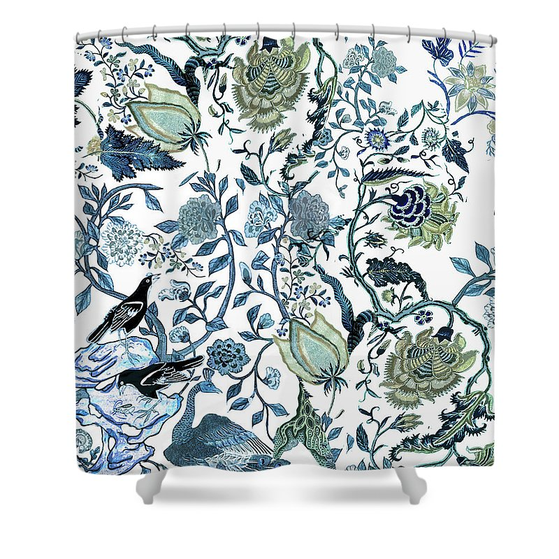 Chinoiserie Blue Shower Curtain featuring the photograph Chinoiserie Blue by Chrissy Ink