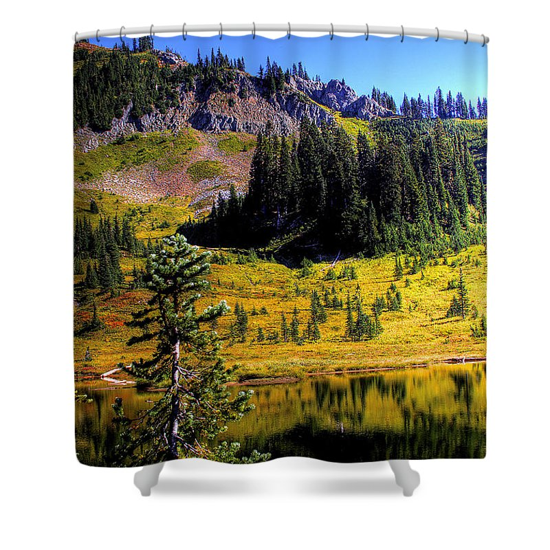 Lake Shower Curtain featuring the photograph Chinook Pass by David Patterson