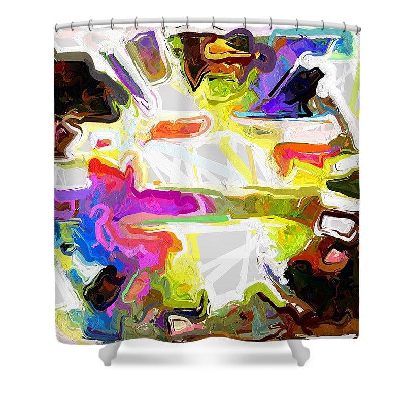 Abstract Shower Curtain featuring the photograph Chip by Rita Koivunen