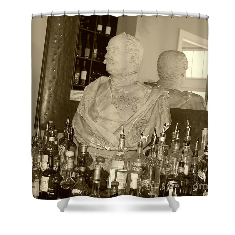 Bust Shower Curtain featuring the photograph Chipped Reflection by Debbi Granruth