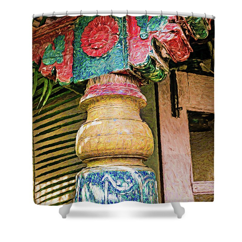 Goa Shower Curtain featuring the photograph Chitra Museum Goa by Stefan H Unger