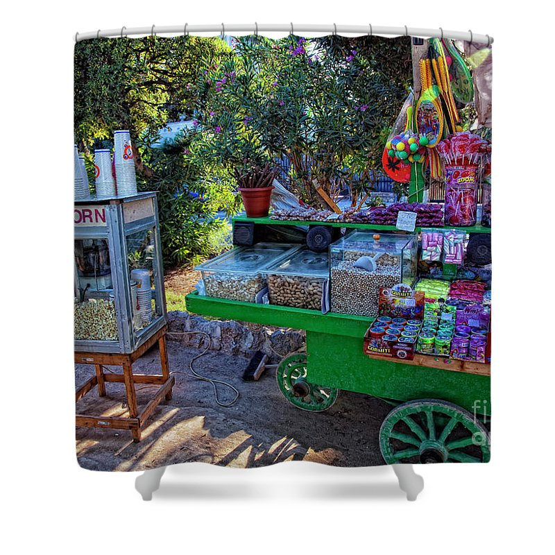Candy Shower Curtain featuring the photograph Chloe's Popcorn Dream by Madeline Ellis